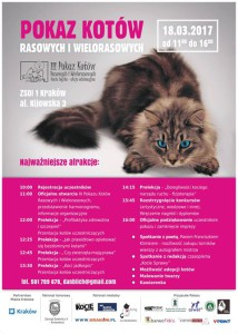 III Pokaz Kotów Rasowych i Wielorasowych - Kocia Logika - sobota 18 marca Kraków