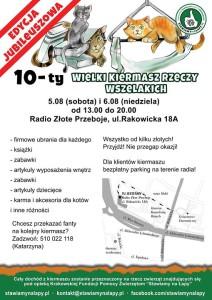 10 Wielki Kiermasz Rzeczy Wszelakich w Radio Złote Przeboje w Krakowie !!!
